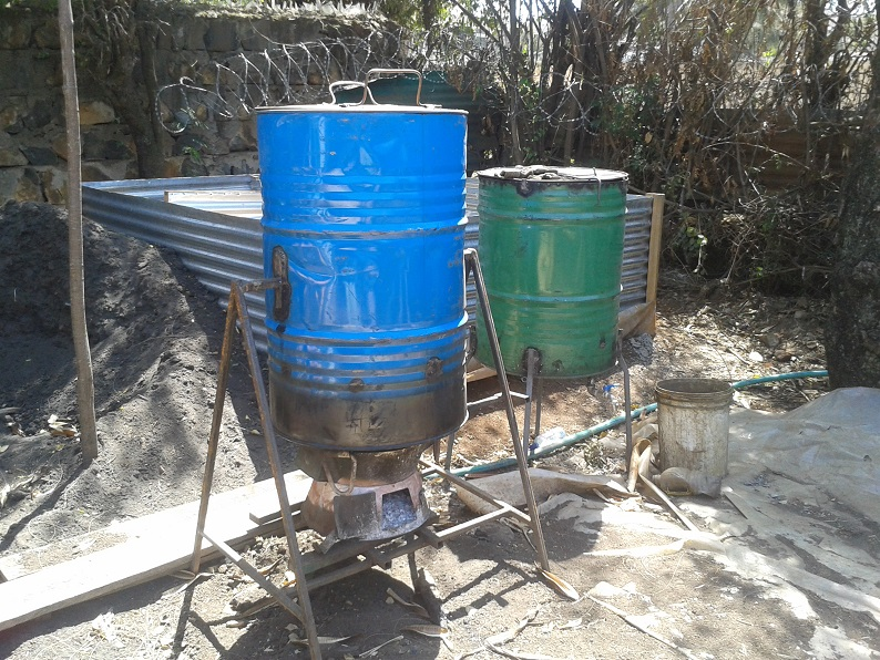 steamer, liquid fertilizer maker and compost chamber